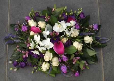 Orchideen Grafstuk Wit Paars