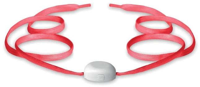 Rode schoenveters met LED-lichtjes.120 cm
