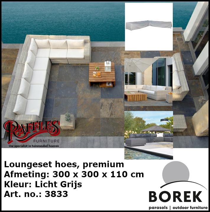 Loungesethoes voor hoekopstelling, 300 x 300 cm, Diep 110 cm!