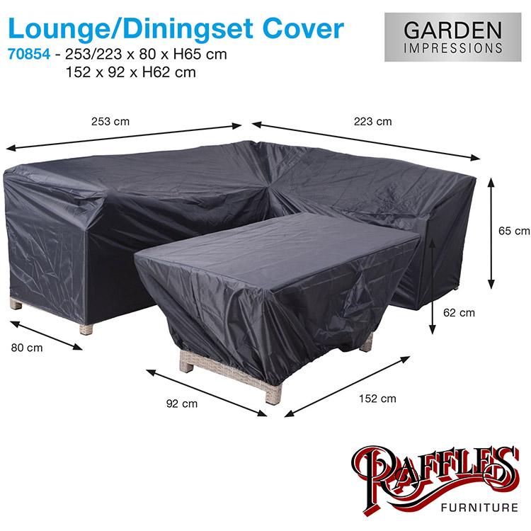 Lounge / dining set L-vorm, lange zijde rechts