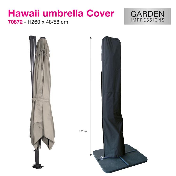 Hoes voor zweefparasol met diam. van 350 cm, of 300 x 300 cm of voor gewone houtstok of alu. parasol met een max. diam. van 400 cm.