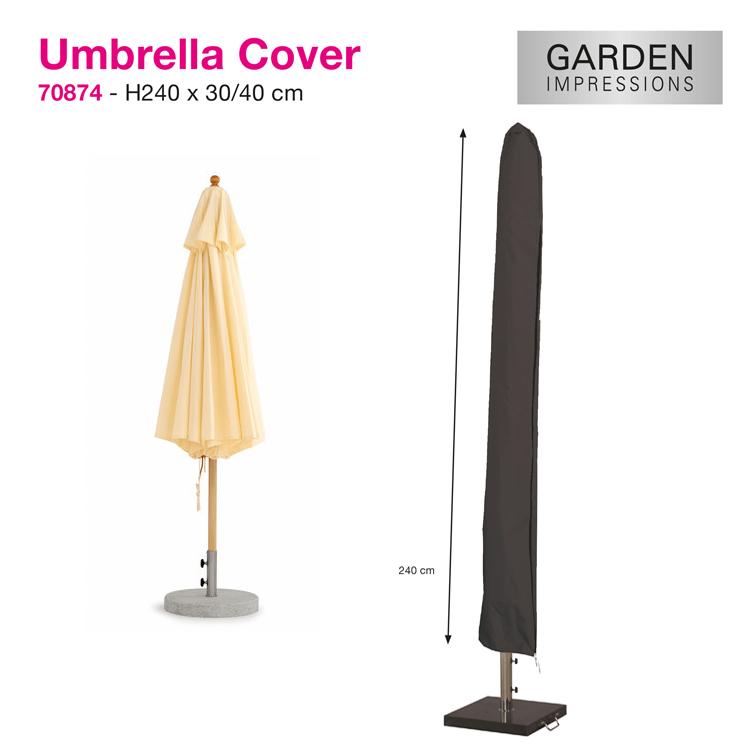 Parasolhoes voor gewone houtstok of alu. parasol met een max. diam. van 350 cm