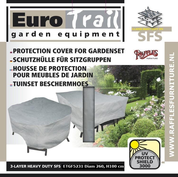 L Steine Fur Hochbeet : Abdeckung Gartenmöbel Schutzhülle für Sitzgruppe, rund Tisch mit 6