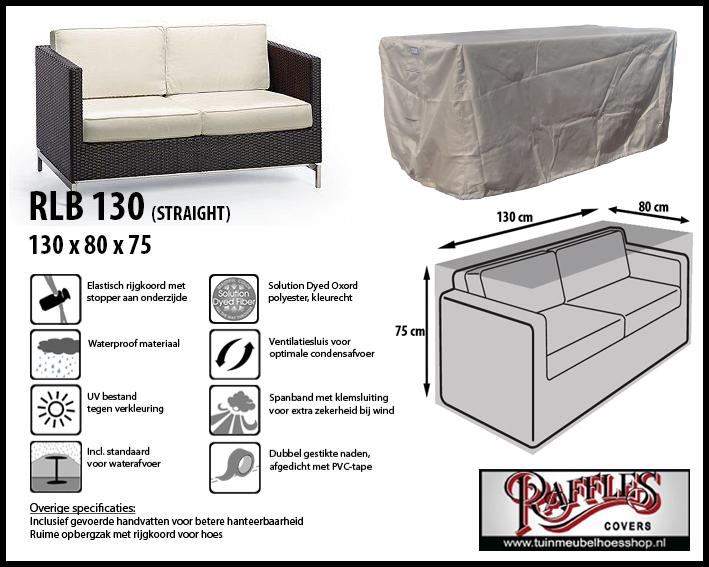 Hoes voor lounge bank, 130 cm.