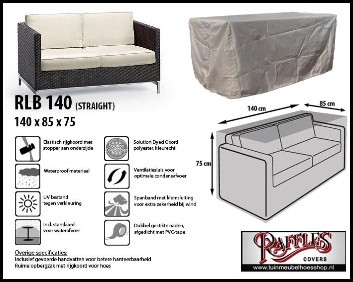 Hoes voor lounge bank, past het best over een bank tot max. 135 x 80 cm breed.