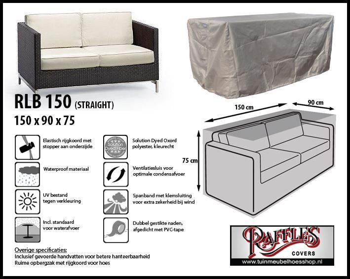 Hoes voor lounge bank, 150 cm.