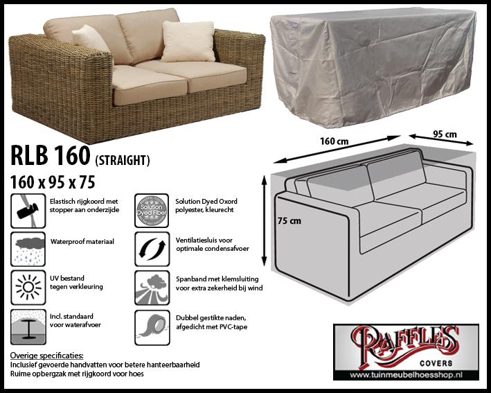 Hoes voor lounge bank, 160 cm