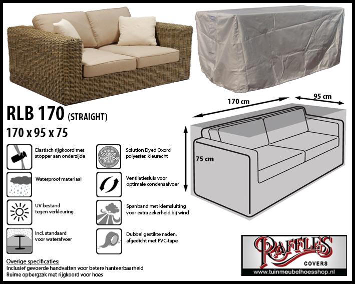 Hoes voor lounge bank, 170 cm.