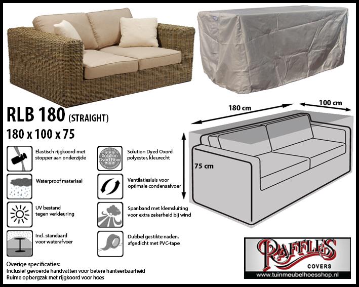 Hoes voor lounge bank, 180 cm.