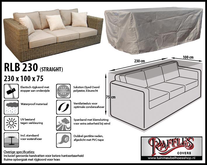 Hoes voor lounge bank, 230 cm.