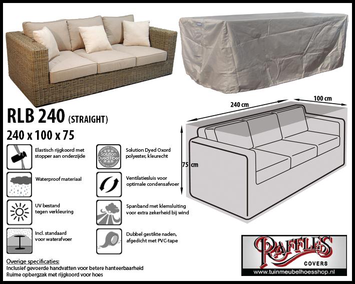 Hoes voor lounge bank, 240 cm.
