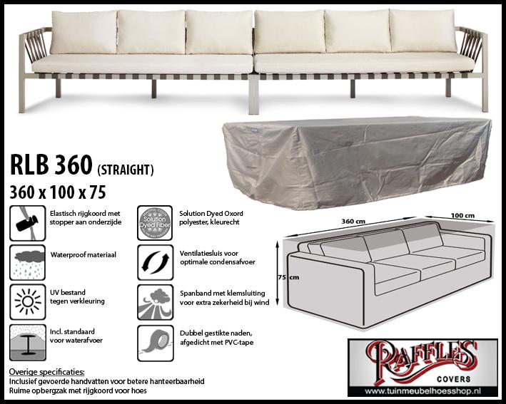 Hoes voor lounge bank, 360 cm.