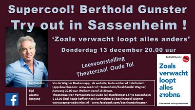 Try out Berthold Gunster 'leesvoorstelling'