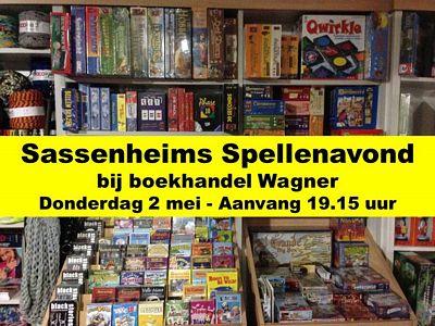 Sassenheims Spellenavond bij boekhandel Wagner