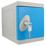 Kunststof Mini Locker met pandslot - blauwe deur