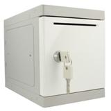 Kunststof Mini Locker - witte deur - met afstortgleuf