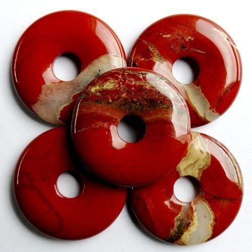 Edelstenen Donut Rode Jaspis 35mm