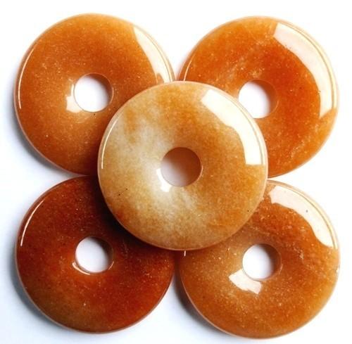 Edelstenen Donut Aventurijn oranje 35mm