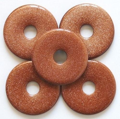 Edelstenen Donut Goudsteen 35mm
