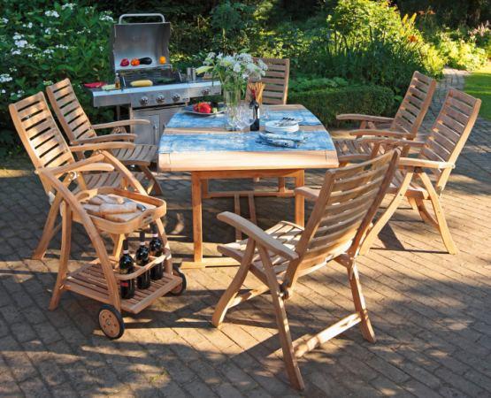 "Teak houten diningset ""Rivula"""