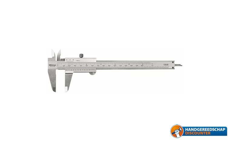 "Schuifmaat 150 mm<br /><FONT SIZE=\""0.8\""> Mitutoyo 530-104</FONT>"