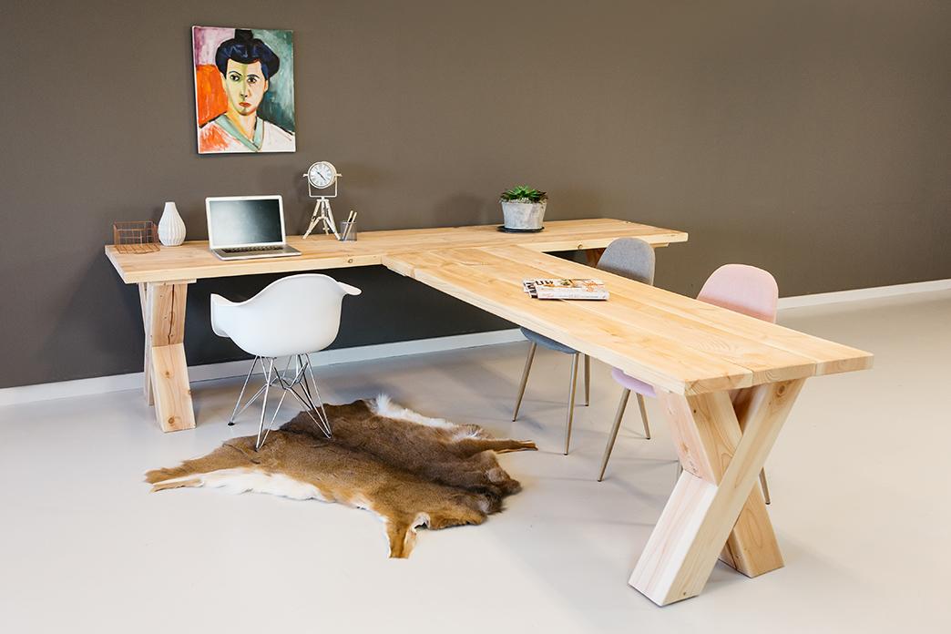 Bureau op maat zakelijke houten bureau 39 s - Hoek kantoor layouts ...