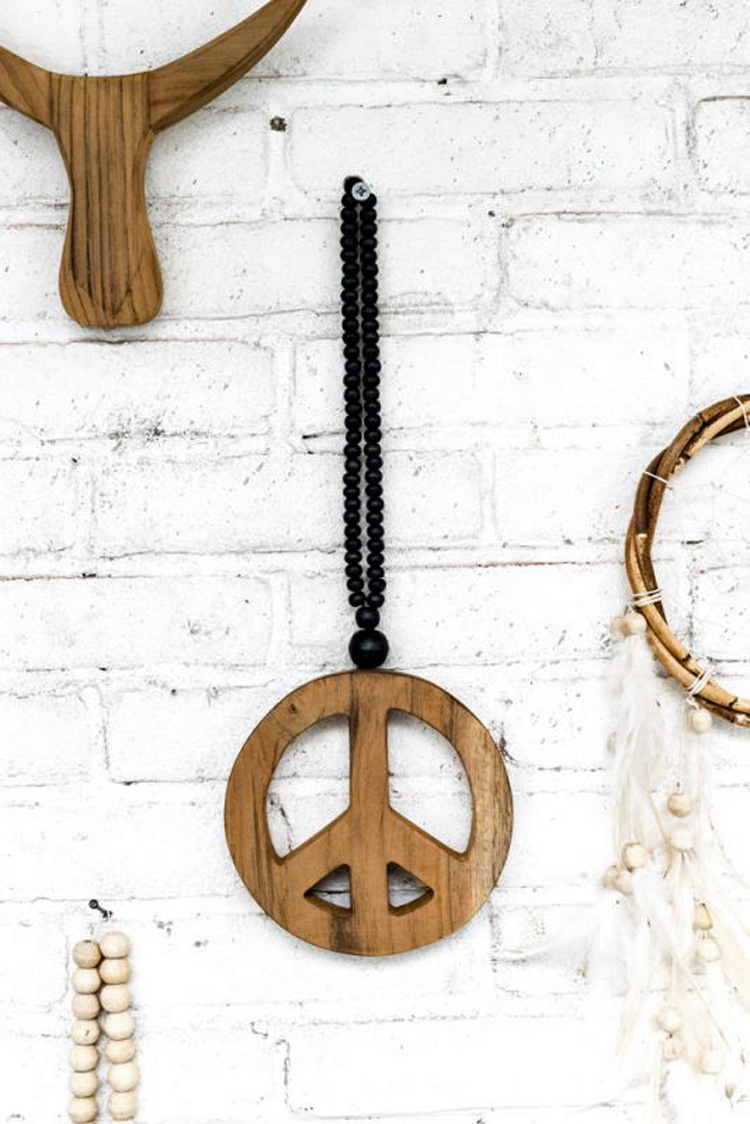 Peace Mala mini zwart
