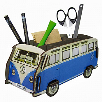 VW bus blauw