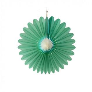 Bloem groen-wit 32cm