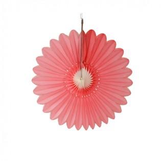 Bloem roze-wit 32cm