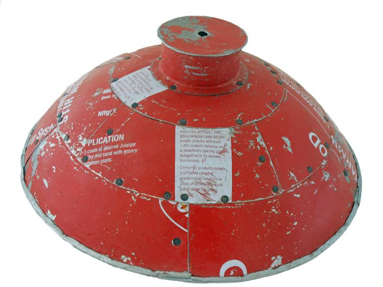 IJzeren lamp rood medium
