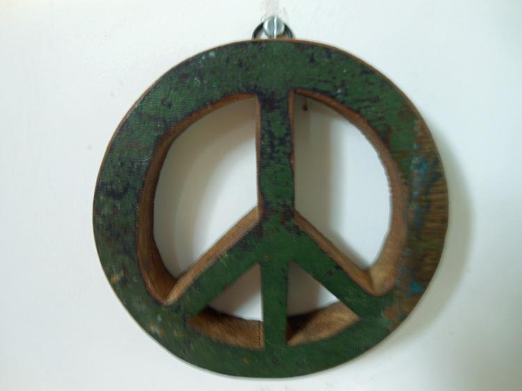 Peace teken groen
