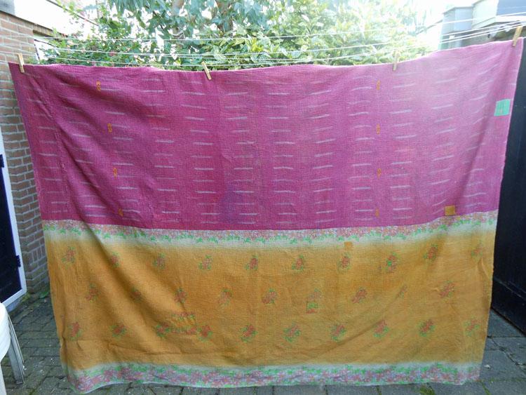 Vintage quilt paars