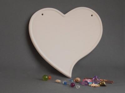 KE-701<br />naamplaat hart<br />18 x 18cm