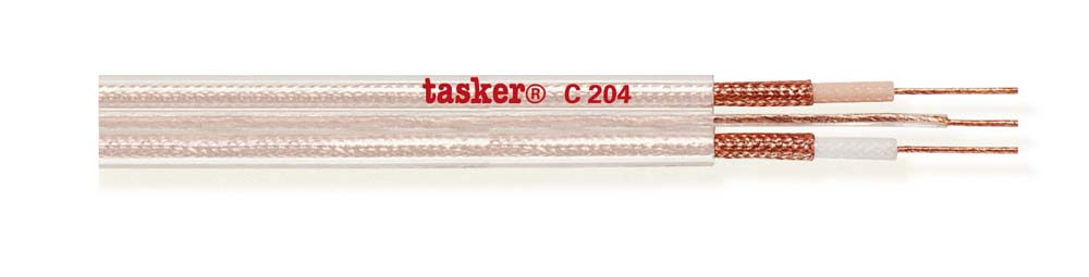 Transparent flat cable for Hi-Fi Car and premade 2x0,35 + 1x0,35<br />C204