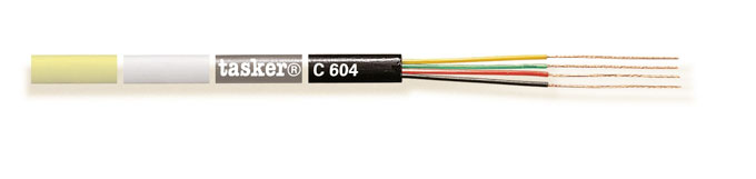 Flat telephone cable 4 x 0,08<br />C604color