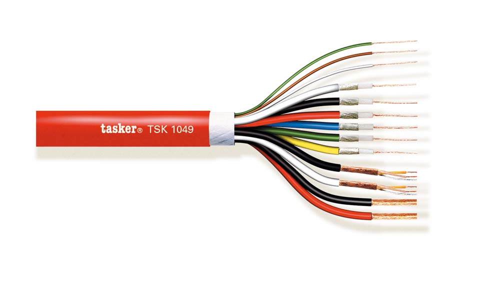 Multivideo Komby cable Video+Audio+Coax+Power 6x75Ohm + 2x0.22+2x0.22+3x0.22+2x1.00 TSK1049