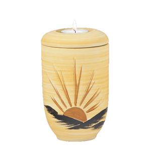 Mini urn Reizende zon met gedenklichtje