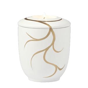 "Mini urn ""Gouden versiersels"" met gedenktlichtje"