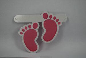 Figuur Roze voetjes