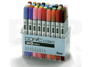 Copic \'Ciao\' set B, 36 couleurs
