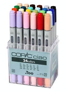 Copic \'Ciao\' set, 24 couleurs