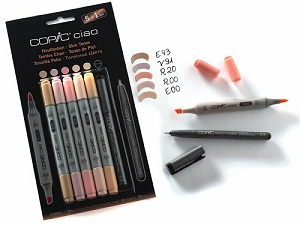"Copic \'Ciao 5+1 set ""tons chair\"""