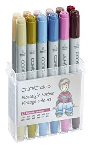 Copic \'Ciao\' set Nostalgie, 12 couleurs