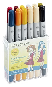 Copic \'Ciao set Uniformes Ecoles, 12 couleurs