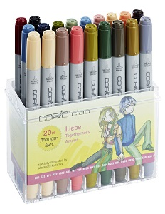 Copic \'Ciao\' set Amour , 20 couleurs