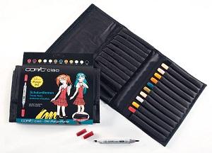 Copic \'Ciao set Uniformes Ecoles, 12 couleurs dans trousse