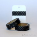 Black Dotted Washi Tape | WashiTapesNL www.washitapes.nl #washitape #maskingtape