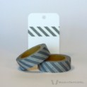 Grey Diagonal Stripes Washi Tape | WashiTapesNL www.washitapes.nl #washitape #maskingtape