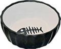 Katten-eetbak zwart/wit met vis